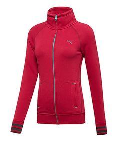Look at this #zulilyfind! Cerise Sweat Jacket - Women by PUMA #zulilyfinds