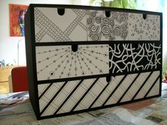 Zentangles chest of drawers