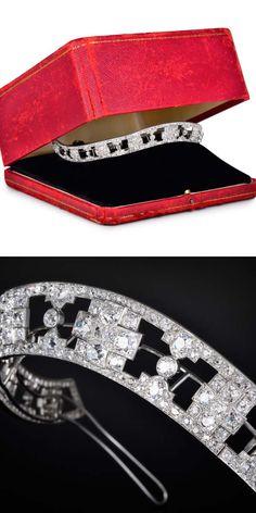 Art Deco Cartier Diamond Tiara