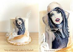 Hand painted lady by Mischell