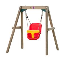 PLUM WOODEN BABY SWING SET WOODEN SWING SET  For tiny tots beginning to explore the outside world, Plum's Wooden Baby Swing provides a safe and secure first swing.  Just add baby giggles!  Suitable for babies aged 12 months and over, up to a maximum user weight of 25kg.