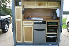 Inspiration - Kitchen on the back of a utility trailer