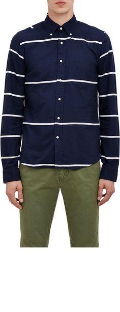 Gant Rugger Stripe Oxford Shirt at Barneys.com