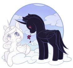 Black and white unicorns