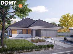 Decyma 9 projekt domu - Jesteśmy AUTOREM - DOMY w Stylu My House Plans, House Layout Plans, House Layouts, Modern Bungalow, Home Fashion, Home Projects, Shed, Sweet Home, New Homes