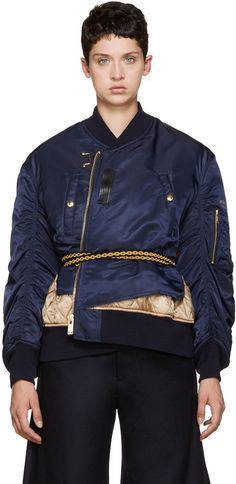 Undercover - Nylon Deconstructed Bomber Jacket