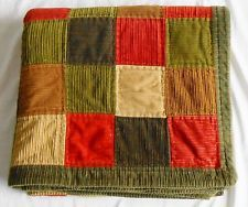 Quilted Scrappy Rail Fence Patchwork Lap Quilt Sofa
