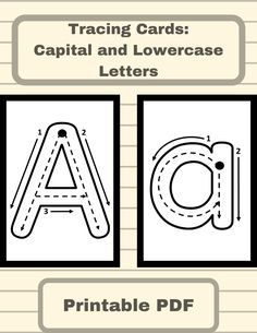 Tracing Cards - Capital and Lowercase Letters - Occupational Therapy, ABA Aba Therapy Activities, Nursery Activities, Preschool Learning Activities, Alphabet Activities, Preschool Classroom, Preschool Worksheets, Kindergarten Graduation, Letters Kindergarten, Alphabet Book