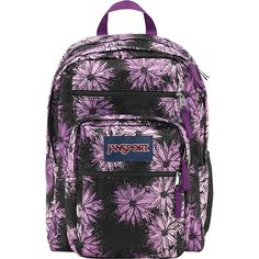 JanSport Big Student Backpack ($30) ❤ liked on Polyvore featuring bags, backpacks, purple, school & day hiking backpacks, black backpack, rucksack bag, padded backpack, padded bag and expandable bag