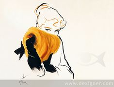 Rene Gruau Fashion Sketches 04