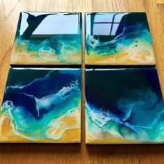 Excited to share the latest addition to my shop: ORIGINAL Paintings Set of Wall Art, Resin art, Organic Art, M… – resin crafts Resin Crafts, Resin Art, Seascape Paintings, Art Paintings, Organic Art, Ocean Art, Beach Art, Ocean Beach, Original Paintings