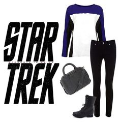 """""""Star Trek"""" by daciejeanne ❤ liked on Polyvore featuring Karl Lagerfeld, Sister Jane, Oasis, Charlotte Russe, Alexander Wang, women's clothing, women, female, woman and misses"""