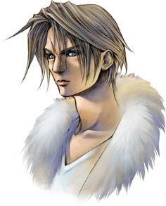 Week 8 - Final Fantasy VIII - Concept Art Mon - Squall 2