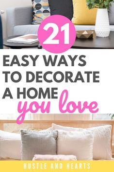We all want to have beautiful homes that feel comfortable, stylish, and functional. Sometimes, though, decorating your home can feel overwhelming. If you've ever felt overwhelmed by home decor, and you're looking for simple tips to decorate a home you love, this is the post for you. I list out all the ways that I've decorated my home so it feels like a place I'm excited to come home to. Try out some of these home decor tips to get your home looking its best