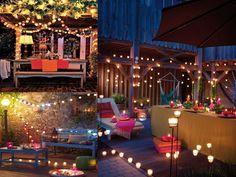 velas para decorar terrazas