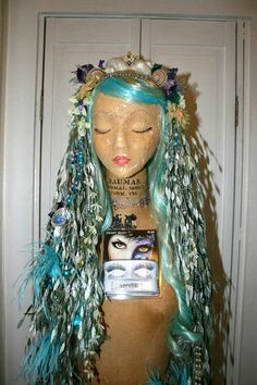 Embellished wig with headress