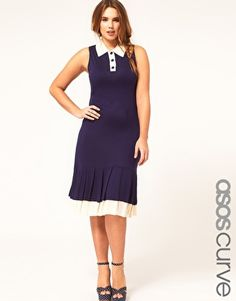 ASOS CURVE Exclusive Jersey Dress With Frill Hem $53.72