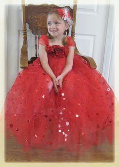 Christmas Tutu Dress red poka dot tulle three by Jillybeantutus, $90.00