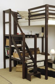 sweetestesthome:  loft/bunk bed idea for boys