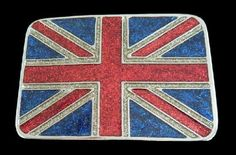 ENGLAND BRITAIN UNION JACK UNITED KINGDOM FLAG BELT BUCKLE BOUCLE DE CEINTURE