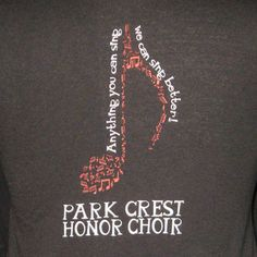 custom design for park crest elementary honor choir mckenna place - promotional products