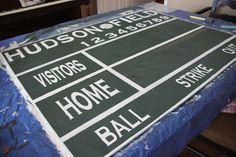 Pottery Barn DIY scoreboard in a football theme