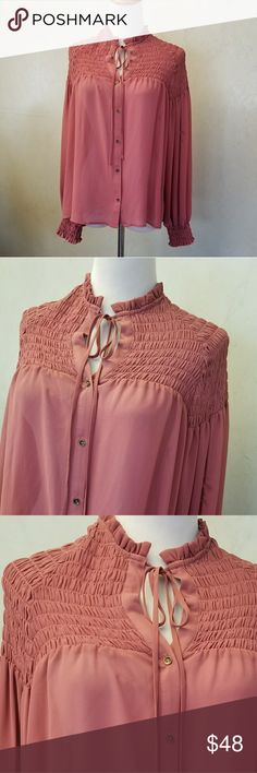 NWT WAYF pink top Brand new with tags pinkish long sleeve top Wayf Tops Blouses