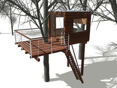 Module Treehouse System: The Caravan and The Small Cube - Treehouse map