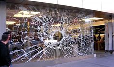 Apple Store Window Guerrilla Marketing Example: How to use stickers for marketing