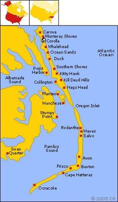 Map Of Outer Banks Core Banks Shakleford Banks Crystal Coast Beach Obx Maps