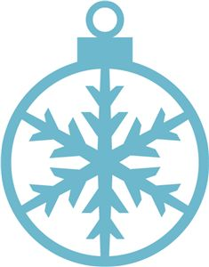 Silhouette Online Store - View Design #14466: snowflake ornament