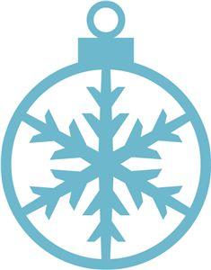 Silhouette Online Store - View Design #14466: snowflake ornament