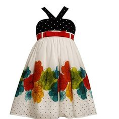 Size-5 BNJ-3352M WHITE MULTI WATERCOLOR FLORAL and PIN DOT BORDER PRINT Spring Summer Party Dress,M33352 Bonnie Jean LITTLE GIRLS Bonnie Jean, http://www.amazon.com/dp/B008250DES/ref=cm_sw_r_pi_dp_YG8Rpb18DY5GK