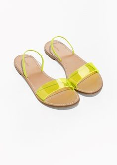 & Other Stories image 2 of Neon Transparent Sandal in Neon Yellow