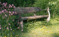 beautiful rustic bench