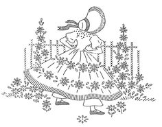 Laura Wheeler sunbonnet girl. Not sure if they can be printed, but they are very cute