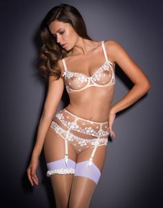 In love with this Agent Provocateur ensemble and the floral applique. Perfect mix of sexy and sweet for your wedding night. Wedding Night Lingerie Spend 'n' Save — Dancing & Dessert