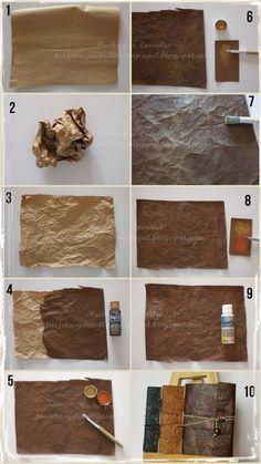 Faux leather TUTORIAL  in Tarjetas y Detallitos en Papel