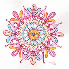 For some reason i love mandalas & the practice of chakras & art therapy