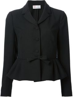 Red Valentino Bow Detail Jacket in Black - Lyst