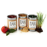 Man Candles.... sawdust, coffee, pizza, campfire.... now that smells like man!