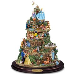 The Wonderful World Of Disney Sculpture: Tabletop Disney Decoration by The Bradford Editions