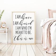 Love this song from The Greatest Showman! The Greatest Showman Art This is Me, Home Decor Wall Art, Bedroom Sign, Printable Wall Art, Wall Art Prints Quotes, Digital Prints Quotes #affiliate