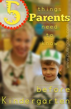5 Things Moms and Kids Need to Learn before Kindergarten -- it's a big change for everyone.  #5 is my favorite!