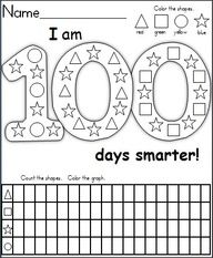 free printable 100th day of schools worksheets | 100th Day Of School Coloring Page