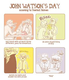 Watson uses at least three kinds of jams because he is a Hobbit.