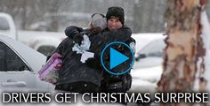 When these drivers were pulled over, they didn't expect Christmas cheer!