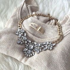 Color collage statement- J.crew crystal statement necklace http://www.justtrendygirls.com/j-crew-crystal-statement-necklace/