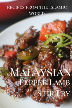 This lamb stirfry from Faazia of Modest Munchies is sure to be a crowd pleaser at your Ramadan table. Stir Fry Recipes, Lamb Recipes, Meat Recipes, Asian Recipes, Chicken Recipes, Cooking Recipes, Sirloin Recipes, Beef Sirloin, Asian Desserts