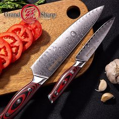 Hot offer Kitchen Knife Set Chef Utility Damascus Knives Japanese Damascus Steel Home Improvement Kitche - Click the pic for details! - best home appliances, best home appliances brands, home appliances, appliances for home Kitchen Knife Brands, Best Kitchen Knives, Kitchen Gadgets, Damascus Knife, Damascus Steel, Kitchen Fixtures, Bathroom Fixtures, Steel House, Knife Sets